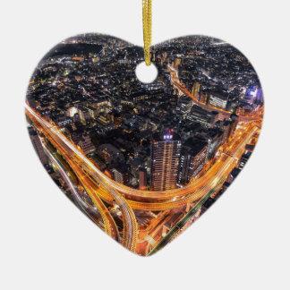 Tokyo Traffic Ceramic Heart Decoration