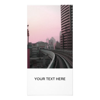 Tokyo Train tracks Picture Card