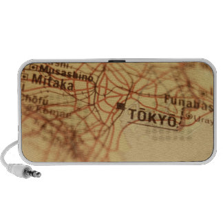 TOKYO Vintage Map Doodle Notebook Speakers