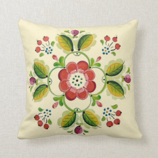 Tole Rosette Pillow