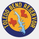Toledo Bend Reservoir Round Sticker