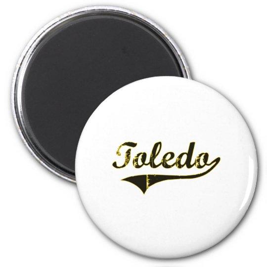 Toledo Iowa Classic Design 6 Cm Round Magnet
