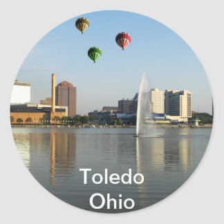 Toledo Ohio City Classic Round Sticker