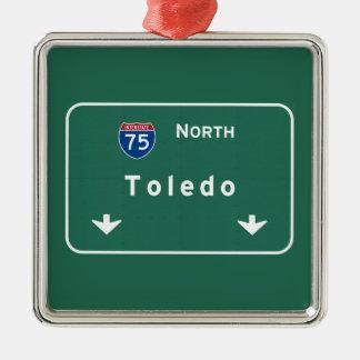 Toledo Ohio oh Interstate Highway Freeway : Christmas Ornament