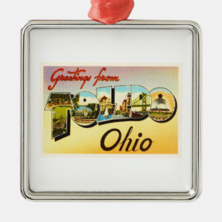 Toledo Ohio OH Old Vintage Travel Souvenir Christmas Ornament