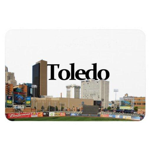 Toledo Ohio Skyline with Toledo in the Sky Rectangular Magnet