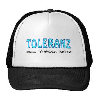 Tolerance must have borders cap