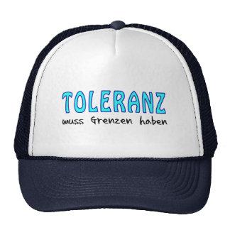 Tolerance must have borders mesh hats