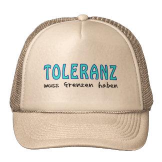 Tolerance must have borders trucker hats