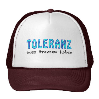 Tolerance must have borders hats