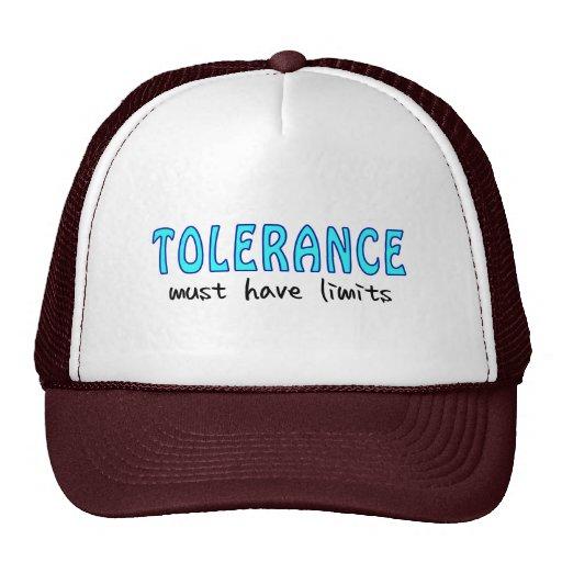 Tolerance must have of limit hat