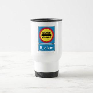 Toll Road Ahead, Traffic Sign, Iceland Stainless Steel Travel Mug