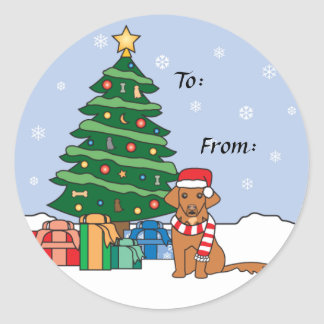 Toller and Christmas Tree Stickers