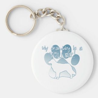 Toller Granddog Basic Round Button Key Ring