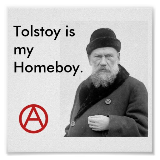 Tolstoy is my Homeboy_Anarchy poster