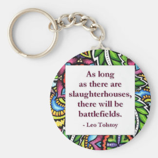 Tolstoy Quote Basic Round Button Key Ring