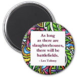 Tolstoy Quote Fridge Magnet