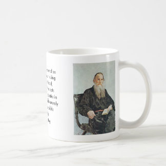 Tolstoy, Tolstoy, A man can live and be healthy... Basic White Mug