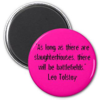 Tolstoy Vegetarian Quote Magnet