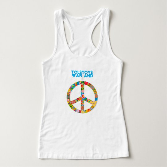 TOLSTOYS WAR AND PEACE RACERBACK TANK