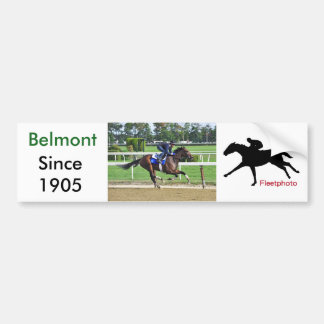 Tom Albertrani Morning Workouts at Belmont Bumper Sticker