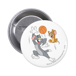 Tom and Jerry Basketball 1 6 Cm Round Badge