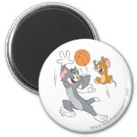Tom and Jerry Basketball 1 6 Cm Round Magnet