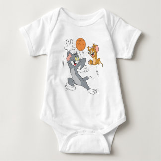 Tom and Jerry Basketball 1 Baby Bodysuit