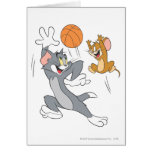 Tom and Jerry Basketball 1 Greeting Cards