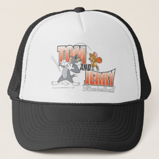 Tom and Jerry Basketball 3 Trucker Hat