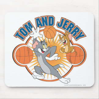 Tom and Jerry Basketball 4 Mouse Pad