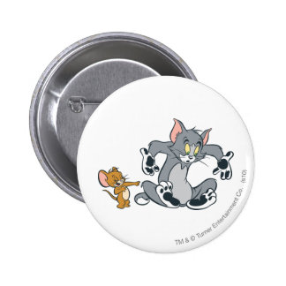 Tom and Jerry Black Paw Cat 6 Cm Round Badge