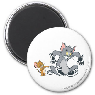 Tom and Jerry Black Paw Cat 6 Cm Round Magnet