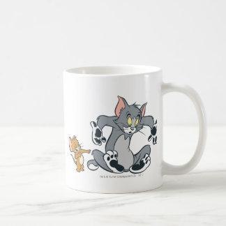 Tom and Jerry Black Paw Cat Basic White Mug