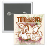 Tom and Jerry Brown and Green Pins
