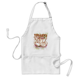 Tom and Jerry Brown and Green Standard Apron