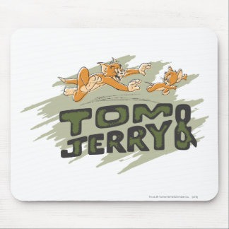 Tom and Jerry Chase Logo Mouse Mat