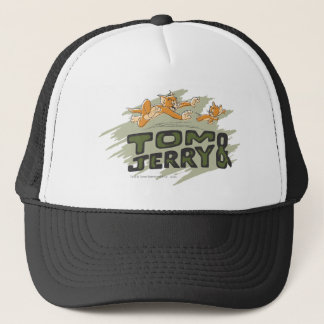 Tom and Jerry Chase Logo Trucker Hat