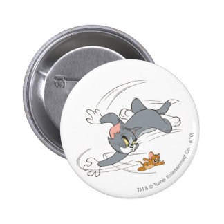 Tom and Jerry Chase Turn 6 Cm Round Badge