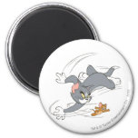 Tom and Jerry Chase Turn 6 Cm Round Magnet