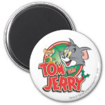 Tom and Jerry Classic Logo 6 Cm Round Magnet