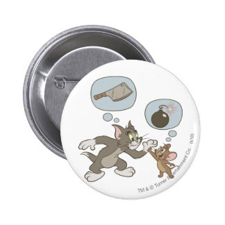 Tom and Jerry Evil Thoughts 6 Cm Round Badge