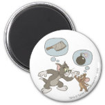 Tom and Jerry Evil Thoughts 6 Cm Round Magnet