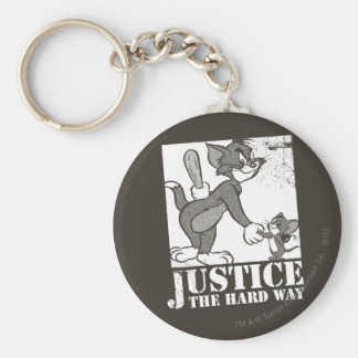 Tom And Jerry Justice the Hard Way Key Ring
