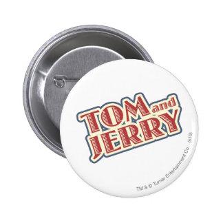 Tom and Jerry Logo 6 Cm Round Badge