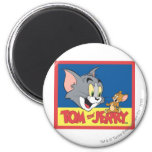 Tom And Jerry Logo Flat 6 Cm Round Magnet