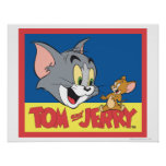 Tom And Jerry Logo Flat Poster