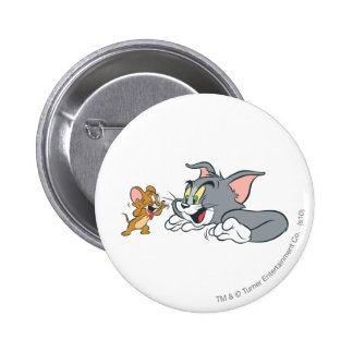 Tom and Jerry Make Faces 6 Cm Round Badge