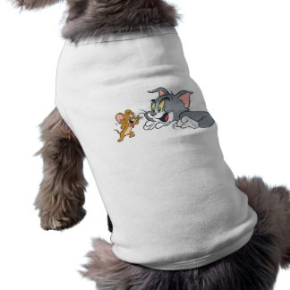Tom and Jerry Make Faces Sleeveless Dog Shirt
