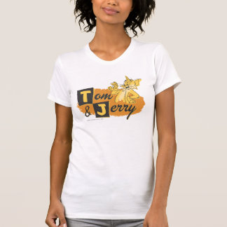Tom and Jerry Mouse In Paw Logo T Shirts
